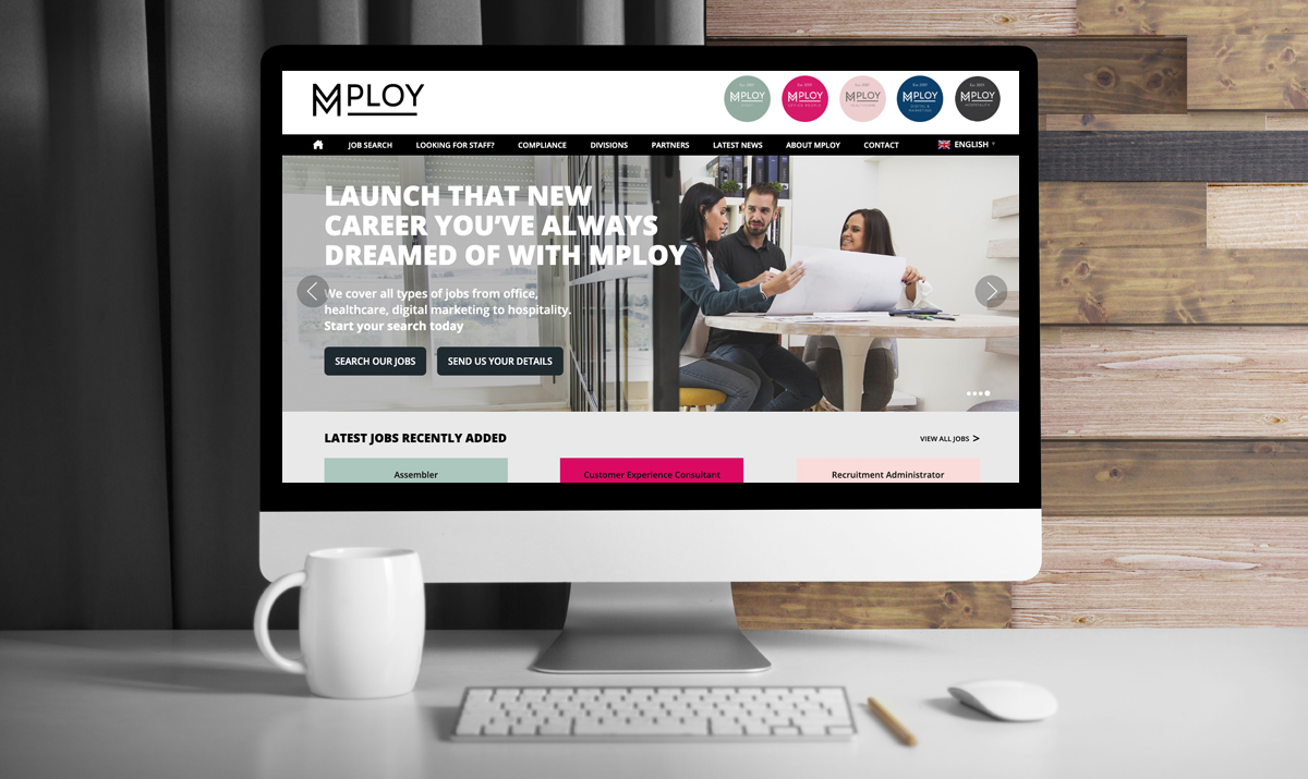 MPLOY Home Page Design