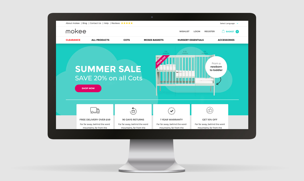 moKee Home page redesign