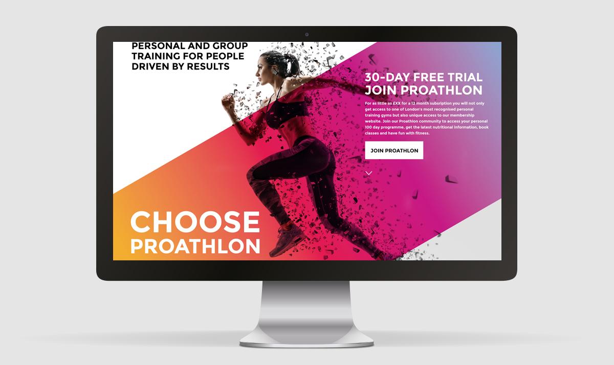 Proathlon Home Page Design